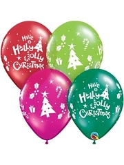 "11"" Holly Jolly Christmas Balloons"
