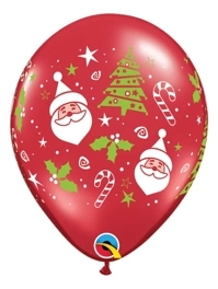 "11"" Santa Christmas Tree Balloons"