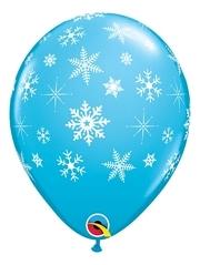 """11"""" Snoflakes & Sparkles A Round Balloons"""