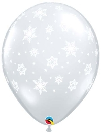 """11"""" Snowflakes A Round Balloons"""