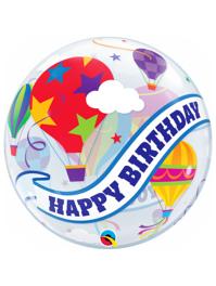 "22"" Birthday Hot Air Balloon Ride Bubble Balloon"