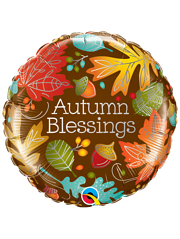 "18"" Autumn Blessings Thanksgiving Balloon"