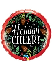 "18"" Holiday Cheer Pine Cones Balloon"