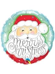 "18"" Merry Christmas Santa Balloon"