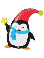 "35"" Popular Elfin Penguin Christmas Balloon"