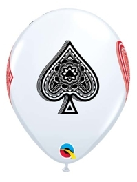 "11"" Card Suites Casino Balloons"