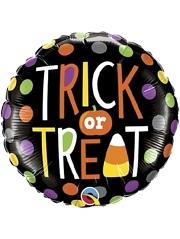 "18"" Trick or Treat Dots Halloween Balloon"