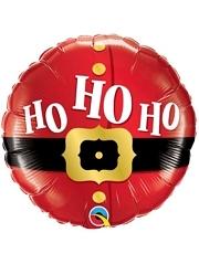 """18"""" Ho Ho Ho Santa Belt Christmas Balloon"""