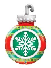 "35"" Snowflake Ornament Christmas Balloon"