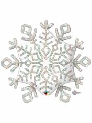 """40"""" Sparkle Snowflake Christrmas Balloon"""