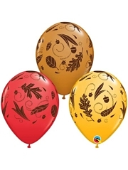 "11"" Acorns & Leaves Thanksgiving Balloons"