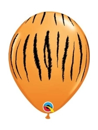 "11"" Tiger Stripes Safari Animal Balloons"