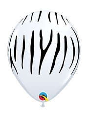 "11"" Zebra Stripes Safari Animal Balloons"