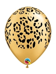 "11"" Leopard Spots Safari Animal Balloons"