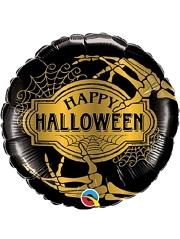 """18"""" Halloween Golden Skeleton Balloon"""