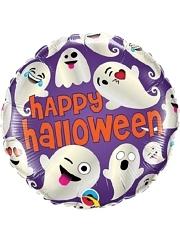 "18"" Halloween Emoticon Ghosts Balloon"