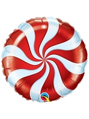"18"" Candy Swirl Red Christmas Holiday Balloon"