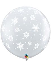 """36"""" Snowflakes A Round Balloon"""