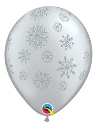 "11"" Glitter Snowflakes A Round Balloons"