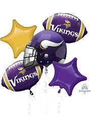 MN Vikings NFL Team Balloon Bouquet Assortment