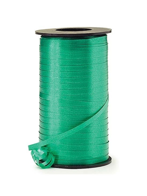 "3/16"" Emerald Green Curling Ribbon"