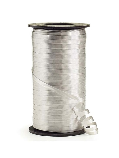 "3/16"" Silver Curling Ribbon"