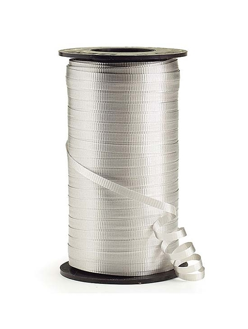 "3/16"" Silver Curling Ribbon"
