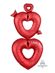 "63"" Satin Open Hearts I Love You Balloon"
