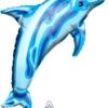 "37"" transparent Blue Dolphin Ocean Balloon"