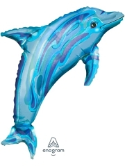 "37"" Jewel BLue Dolphin Ocean Balloon"