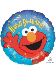 "18"" Elmo Birthday Sesame Street Balloon"
