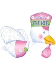 """32"""" Bundle of Joy Stork It's A Gril Balloon"""