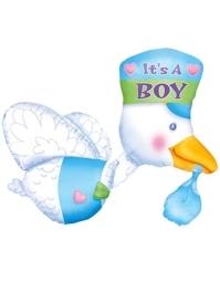 """32"""" Bundle of Joy Stork It's A Boy Balloon"""