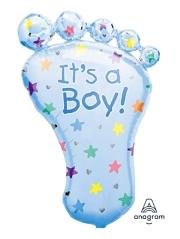 "32"" It's A Boy Foot Bably Balloon"