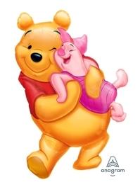 """32"""" Big Pooh Hug Shape Disney Balloon"""
