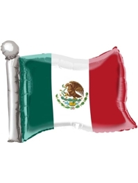 "22"" Mexican Flag Fiesta Balloon"
