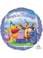 "17"" Pooh & Friends 1st Birthday Disney Balloon"
