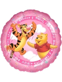 """17"""" Pooh It's A Gril Balloon"""