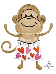 "33"" Love Monkey Shape Balloon"