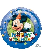 "17"" Mickey Birthday Stars Disney Balloon"
