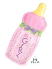 "31"" It's A Girl Baby Bottle Balloon"