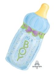"""31"""" It's A Boy Baby Bottle Balloon"""