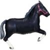 "43"" Black Horse Cowboy Balloon"