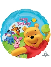 "17"" Pooh Friends Sunny Birthday Disney Balloon"