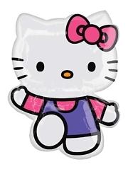 """30"""" Hello Kitty Pink & Purple Shape Balloon"""