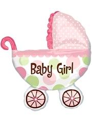 """31"""" Baby Buggy Girl Balloon"""