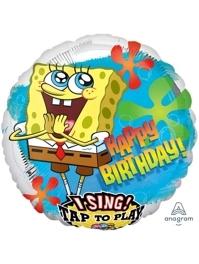 "28"" Spongebob Birthday I-Sing Balloon"