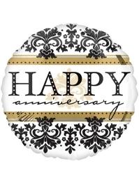 "18"" Happy Anniversary Damask Balloon"