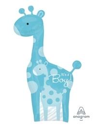 """42"""" Safari Baby Boy Giraffe Balloon"""