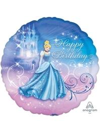 "18"" Cinderella Birthday Disney Balloon"